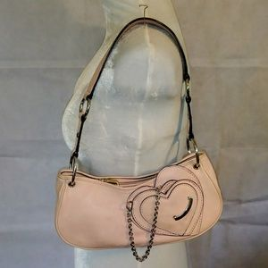 Small Pink Juicy Couture Leather Shoulder Bag